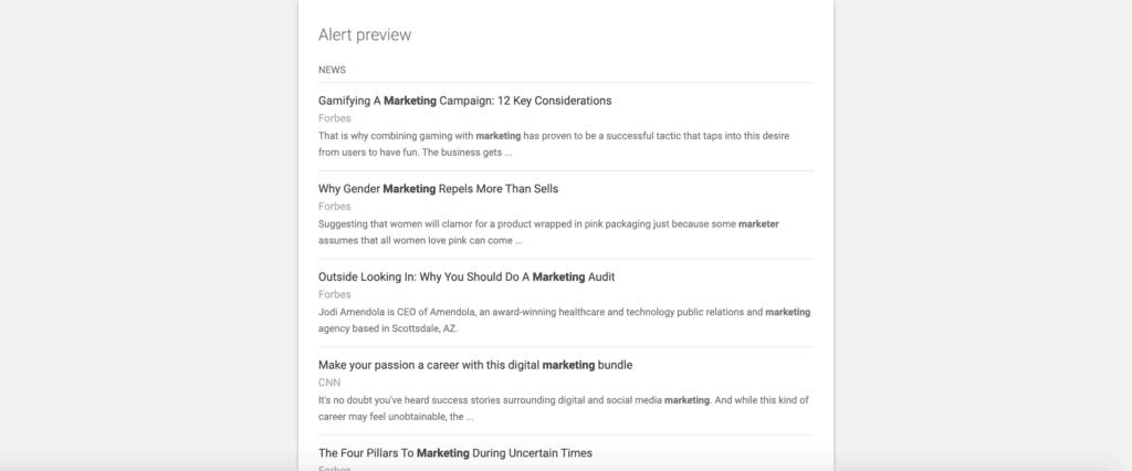Free social media management tools 2020 - Google alerts