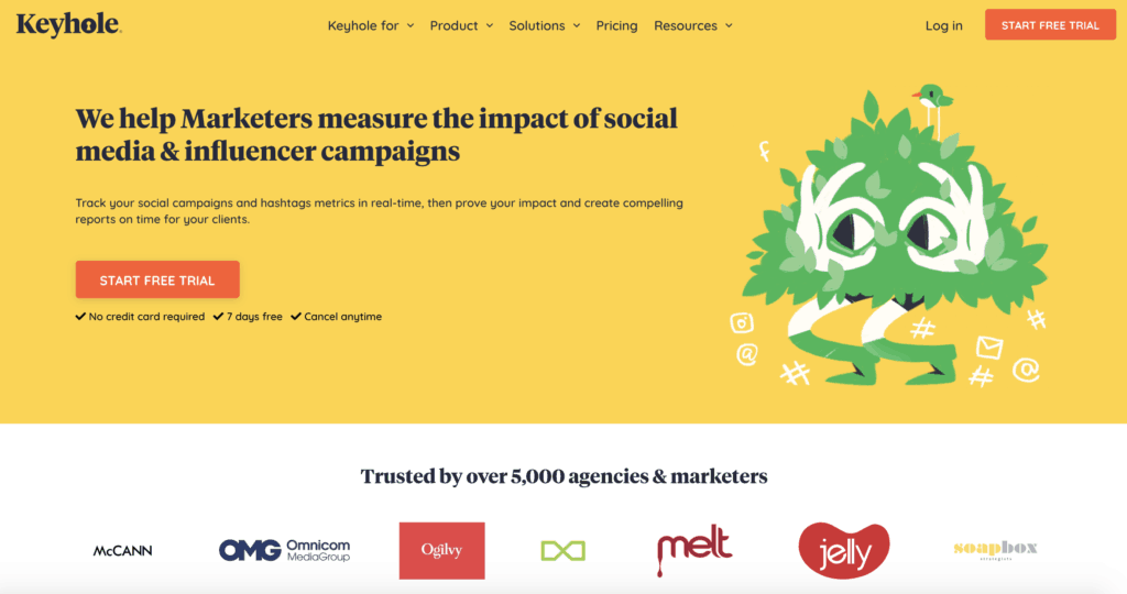Best social tools: keyhole for influencer campaigns