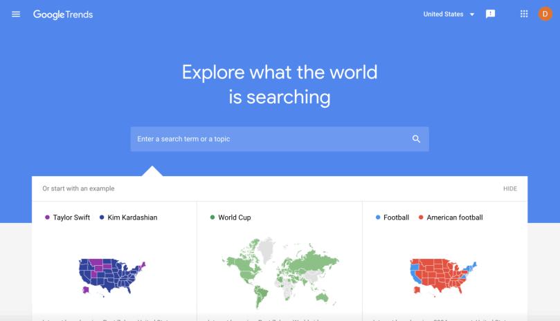 free google tools: Google trends