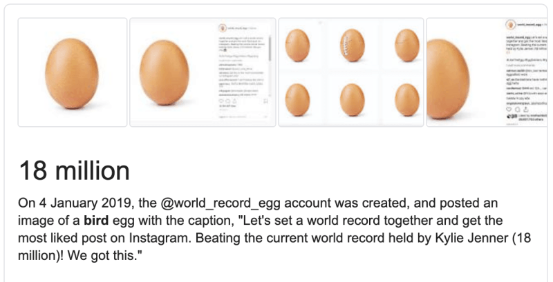 The Instagram egg inspired one of the most liked YouTube videos: It was called... 'Make this video the most liked on YouTube'