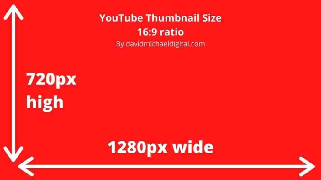 Best YouTube thumbnail size is 720 pixels high by 1280 pixels wide