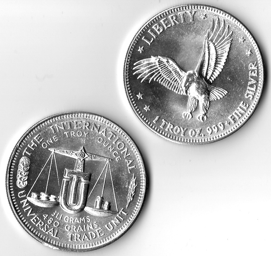 1 Oz 999 Fine Silver Flying Eagle International Universal Trade Unit Round The Mint