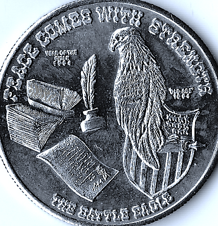1 OZ .999 Fine Silver Battle Eagle TM Round Face