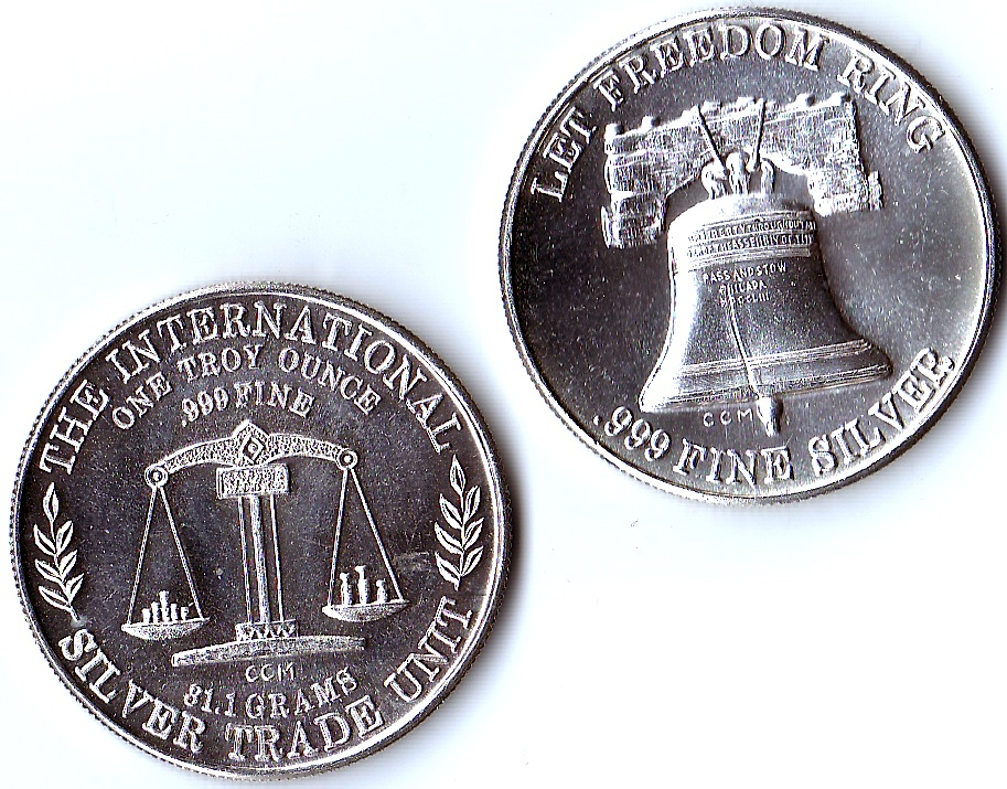 1 Oz 999 Fine Silver Liberty Bell International Silver