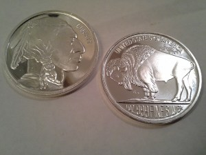 1 OZ .999 Fine Silver American Indian Head and Buffalo Rounds - Undated