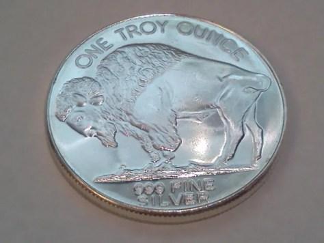 Undated Silver American Indian Head and Buffalo 1 OZ .999 Fine Silver Round