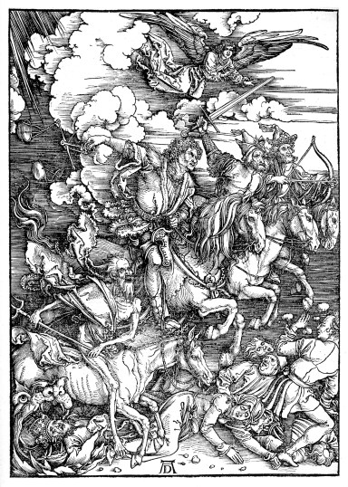 Albrecht Dürer, The Revelation of St John: The Four Riders of the Apocalypse, 1497-98, Woodcut