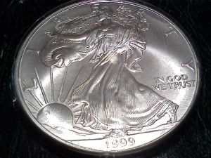 1999 American Silver Eagle - Uncirculated - Obverse