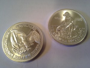 1984 Engelhard American Prospector 1oz .999 Fine Silver Round – Uncirculated
