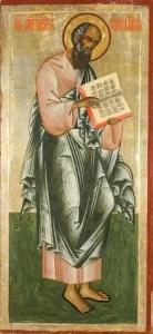 Russian Orthodox icon of the Apostle and Evangelist John the Theologian, 18th century (Iconostasis of Transfiguration Church, Kizhi Monastery, Karelia, Russia