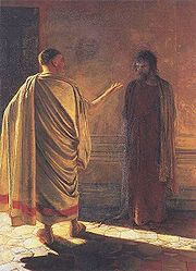 Jesus before Pilate by Nikolai Ge 1890