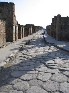 Pompeii Sidewalk by Paul Vlaar