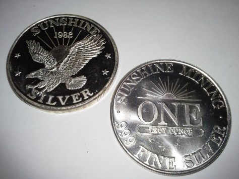 1 OZ .999 Fine Silver Sunshine Mint 4 Star Silver Eagle Round – 1982