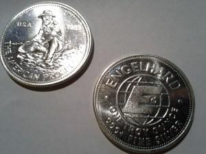 1983 Engelhard American Prospector 1oz .999 Fine Silver Round – E Reverse design