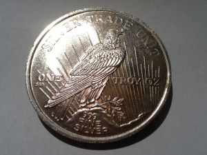1 OZ .999 Fine Peace Dollar Round struck in 1986
