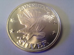 1 OZ .999 Fine Silver Sunshine Mint 4 Star Round – 1999