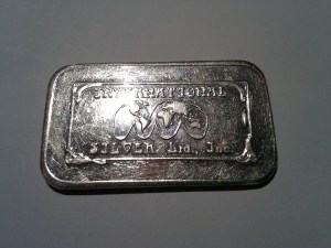 1 OZ .999 International Silver Ltd, Inc. Fine Silver Bar