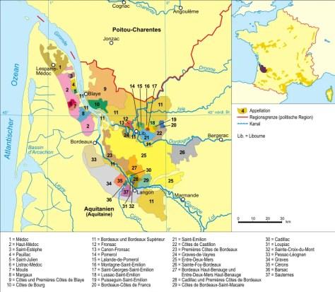 Bordeaux Wine Regions