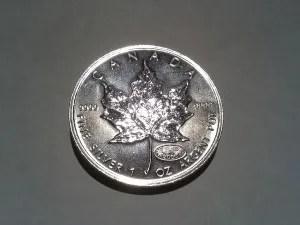2000 Silver Canadian Maple Leaf -  Fireworks Privy