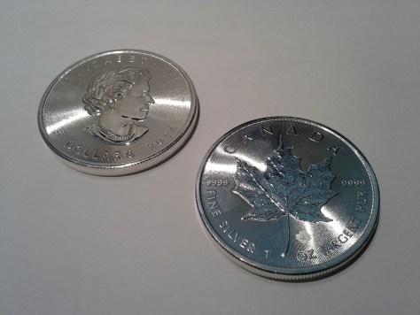 2014 Silver Canadian Maple Leaf - Maple Leaf Privy