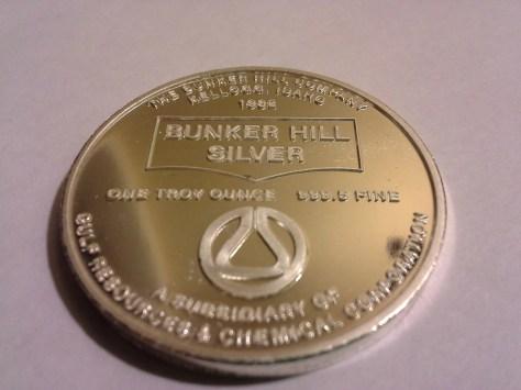1982 BH-3 Bunker Hill Company Medallion Series .9995 Fine Silver 1OZ Round - Rare