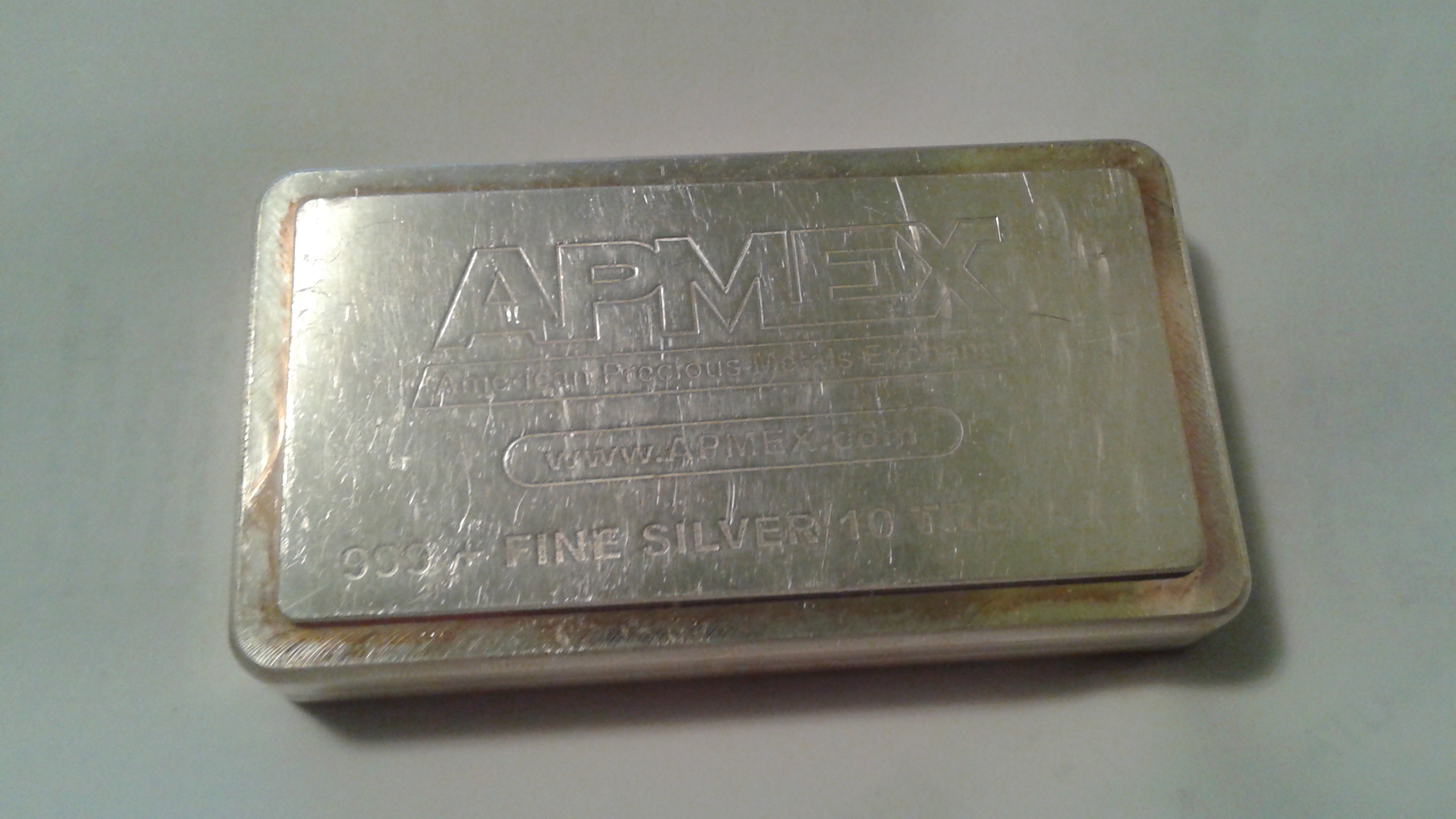 10 Troy Ounce 999 Fine Silver Bar By Academy For Apmex