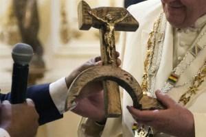 Regalo de Evo a papa Francisco