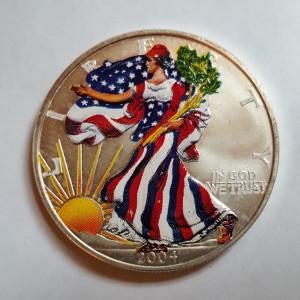 Color Enhanced 2004 1 oz Silver American Eagle