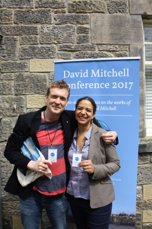 David Mitchell and Dr Rose Harris-Birtill at the David Mitchell Conference 2017