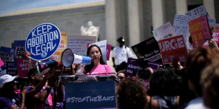 Planned Parenthood president Dr. Leana Wen speaks at a protest against anti-abortion legislation at the U.S. Supreme Court in Washington, U.S., May 21, 2019. REUTERS/James Lawler Duggan