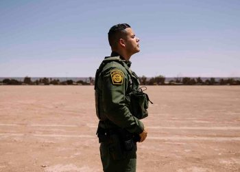 """Eduardo Jacobo, who has served as a Border Patrol agent in the El Centro Sector for about a decade, on duty in Calexico, Calif., July 10, 2019. Overwhelmed by desperate migrants and criticized for mistreating the people in their care, many agents have grown defensive, insular and bitter. """"The difference between doing the job now and when I started is like night and day,"""" said Jacobo. (Kendrick Brinson/The New York Times)"""