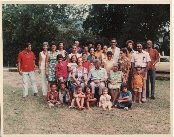 Author's mixed race family circa 1973