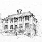 image of drawing of Shirley Eustis house