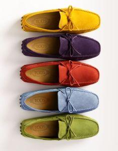 Zapatos mocasines de tela