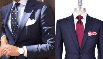 Como combinar traje azul marino
