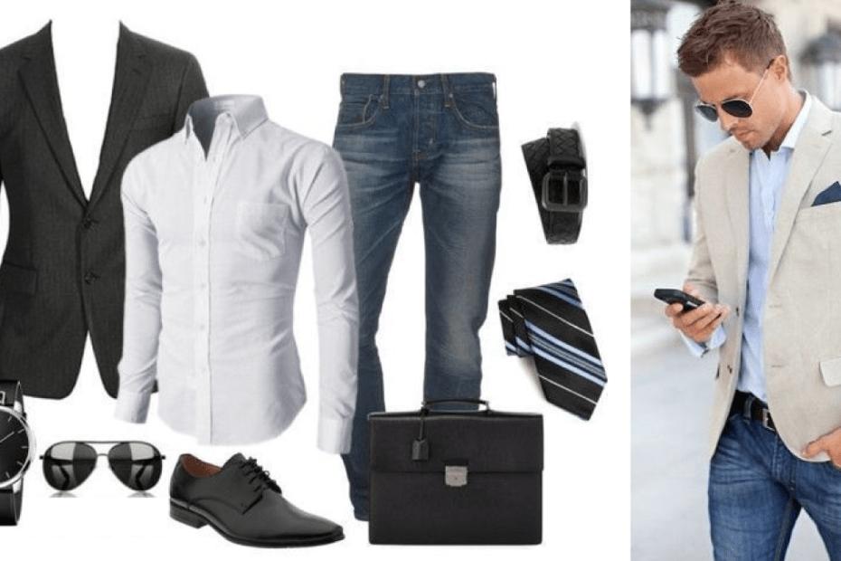 Como vestir jeans y saco