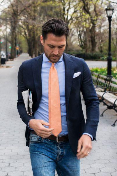 Camisa formal y jeans