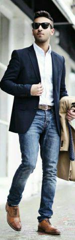 Cómo combinar jeans con saco 8
