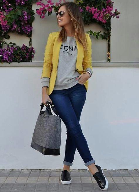 Jeans saco y tenis