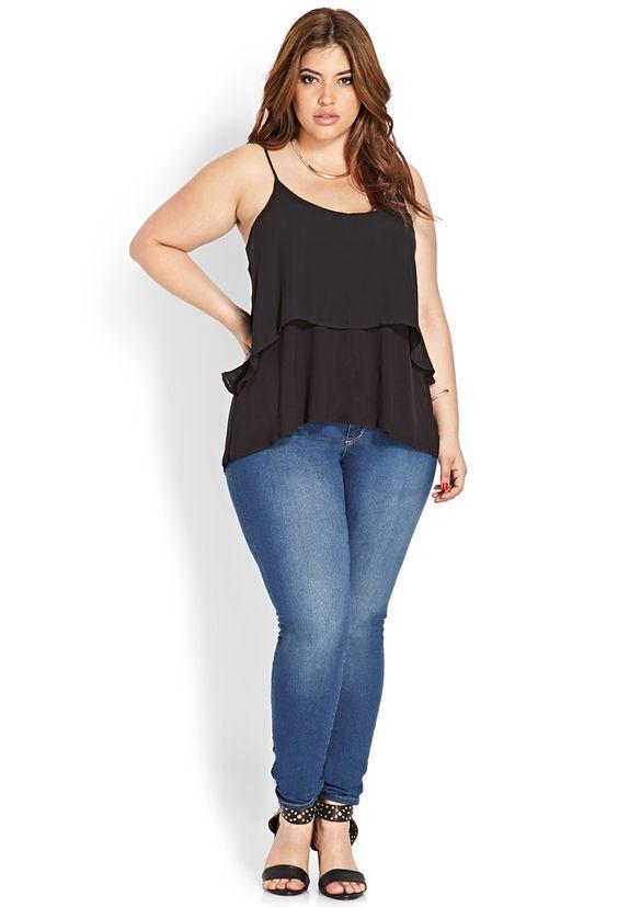 Mujer gordita con caderas amplias