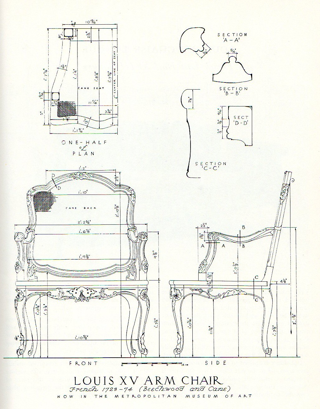 Template Drawings For Furniture Model Making