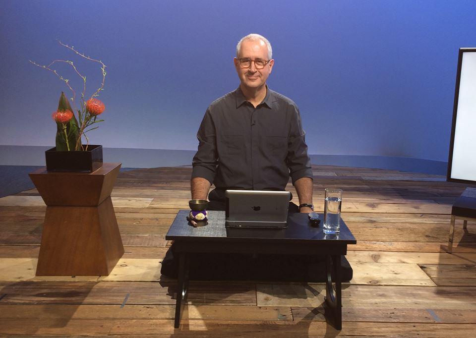 David Nichtern sitting and teaching meditation