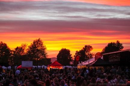 Vancouver Folk Music Festival - Sunset at Jericho Beach