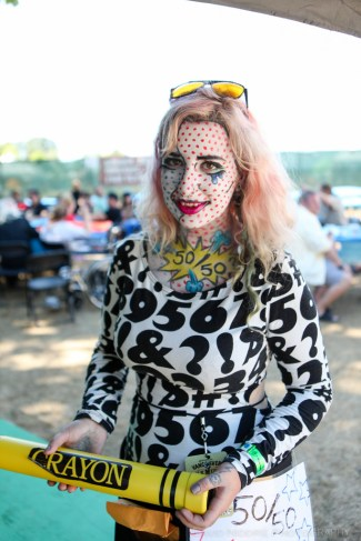 Vancouver Folk Music Festival - a raffle volunteer