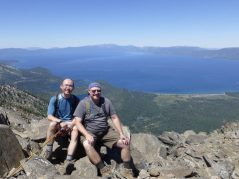 At the summit of Mt Tallac. The view of Lake Tahoe was unbeatable.