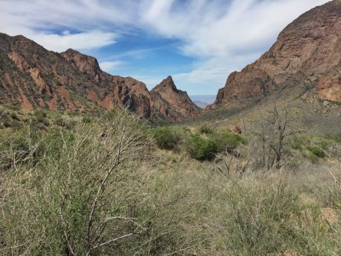 The Window pour-off is where water from Chisos Basin is drained into a desert below.