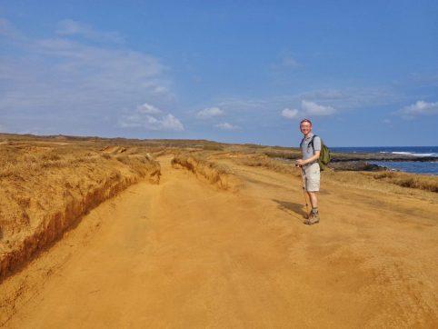 Trail to the Green Sand Beach at Mahana Bay near the South Point