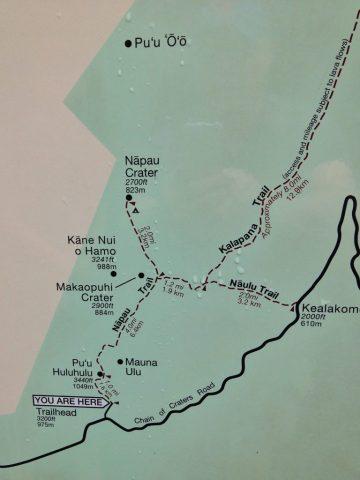 Sign at Nāpau Trailhead