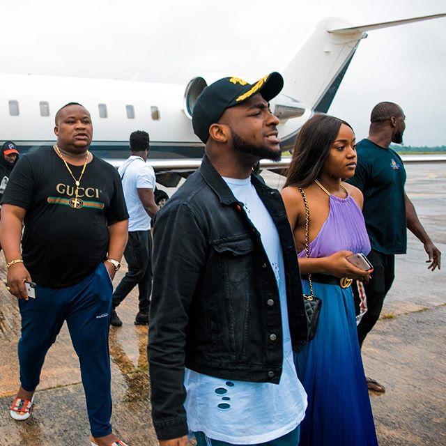Davido, Chioma and Private Jet