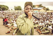 Davido addresses Corp Members